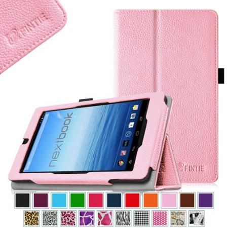 "Nextbook 7"" Tablet 16GB Quad Core Tablet Case - Fintie Folio Cover for 2014 Walmart Release Model # NX700QC16G, Pink - Walmart.com"