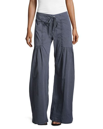 c853db74fa Women's Gray Willowy Wide-Leg Drawstring Cargo Pants | My Style ...