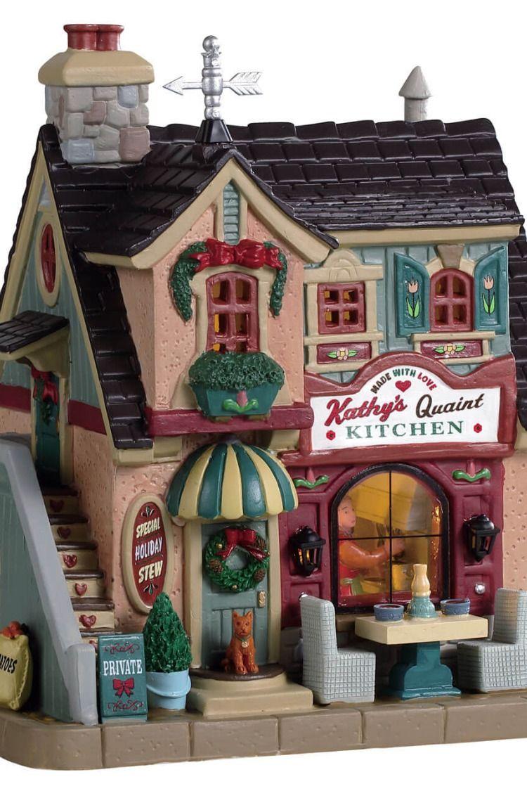 Lemax Kathy's Quaint Kitchen Christmas village houses