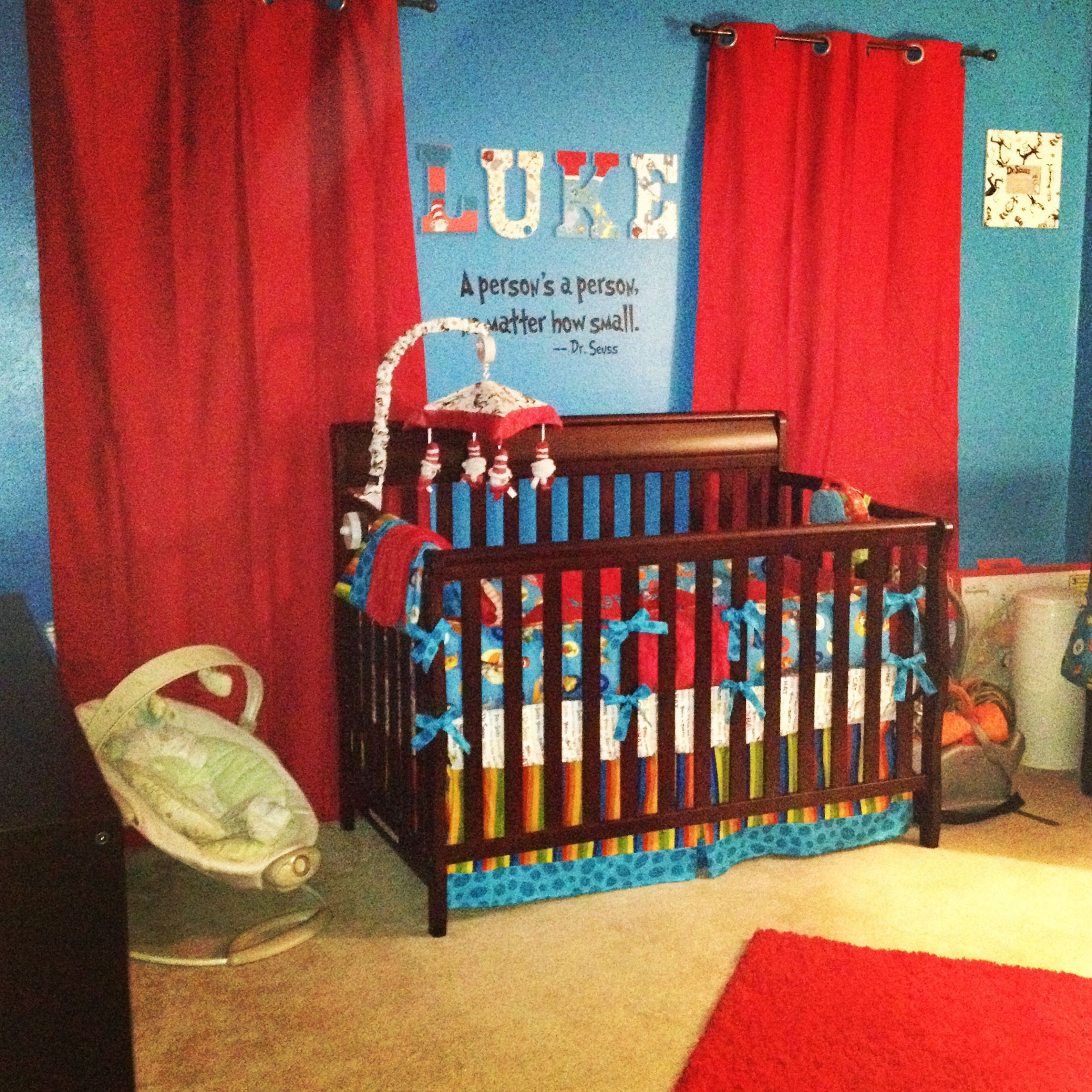 Dr Seuss Thing 1 And Thing 2 Red And Turquoise Nursery Turquoise Nursery Dr Seuss Nursery Nursery