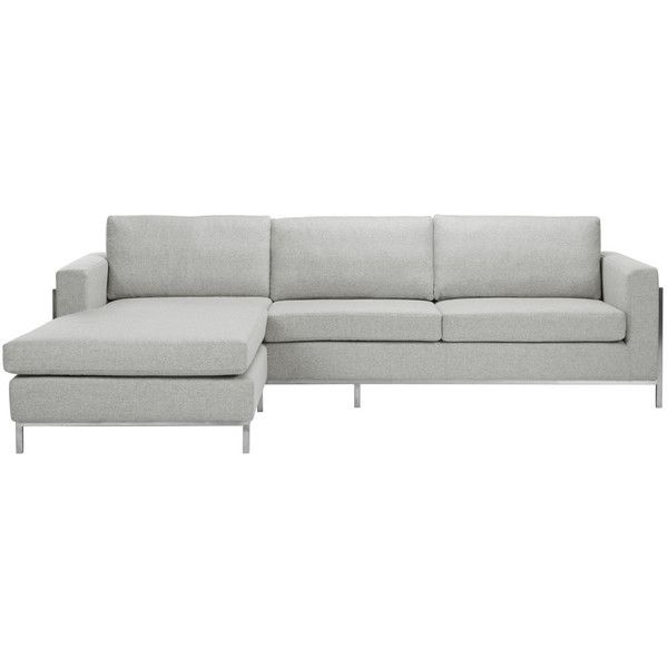 Camila Wool Blend Sectional Sofa In Stone Design By Safavieh ($3,336) ❤  Liked On Polyvore Featuring Home, Furniture, Sofas, Sofa, Safavieh Home  Furniture, ...