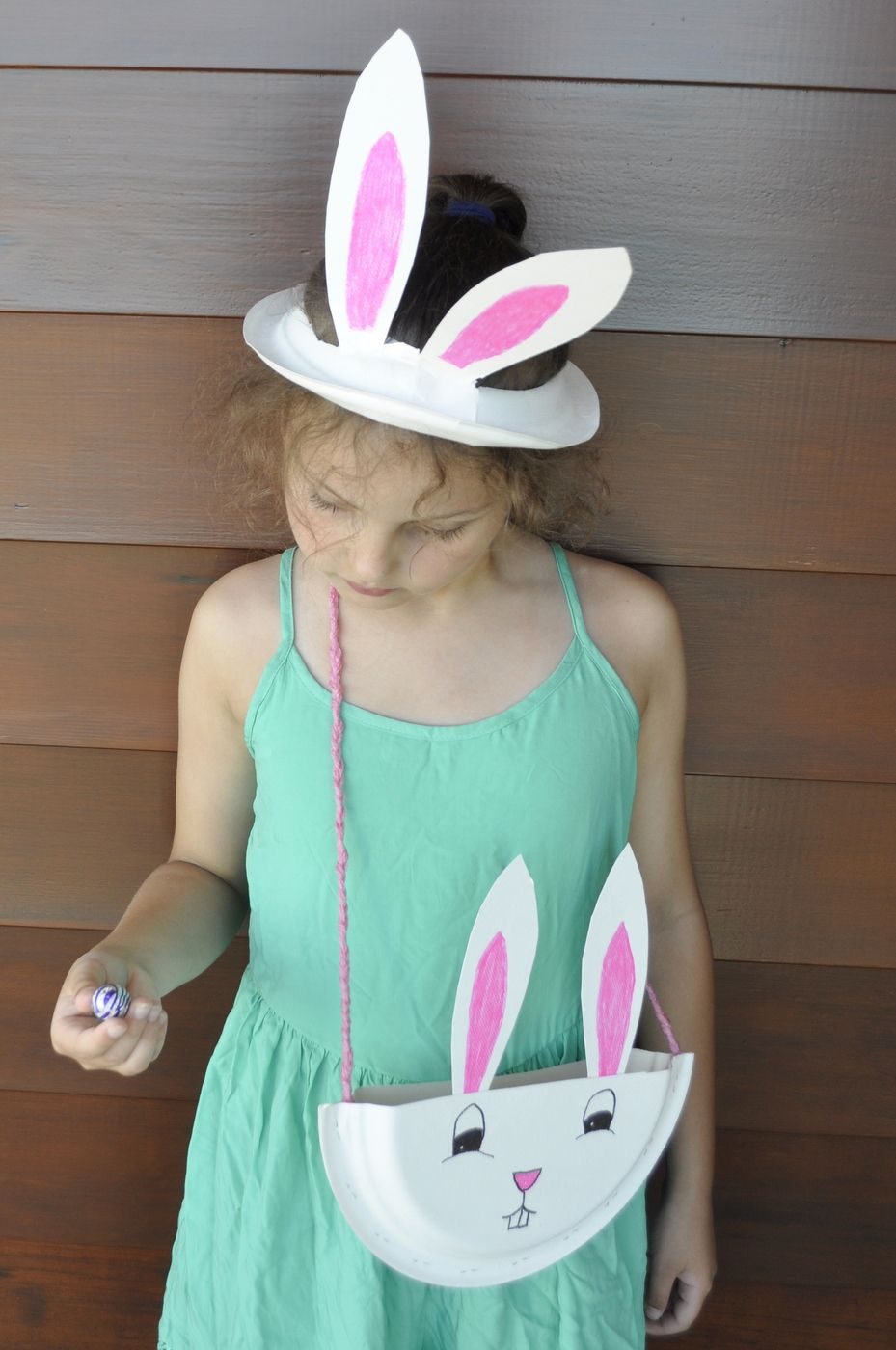 Paper plate bunny ears and paper plate bag easter springtime turn a paper plate into an adorable bag great for easter hunts negle Images