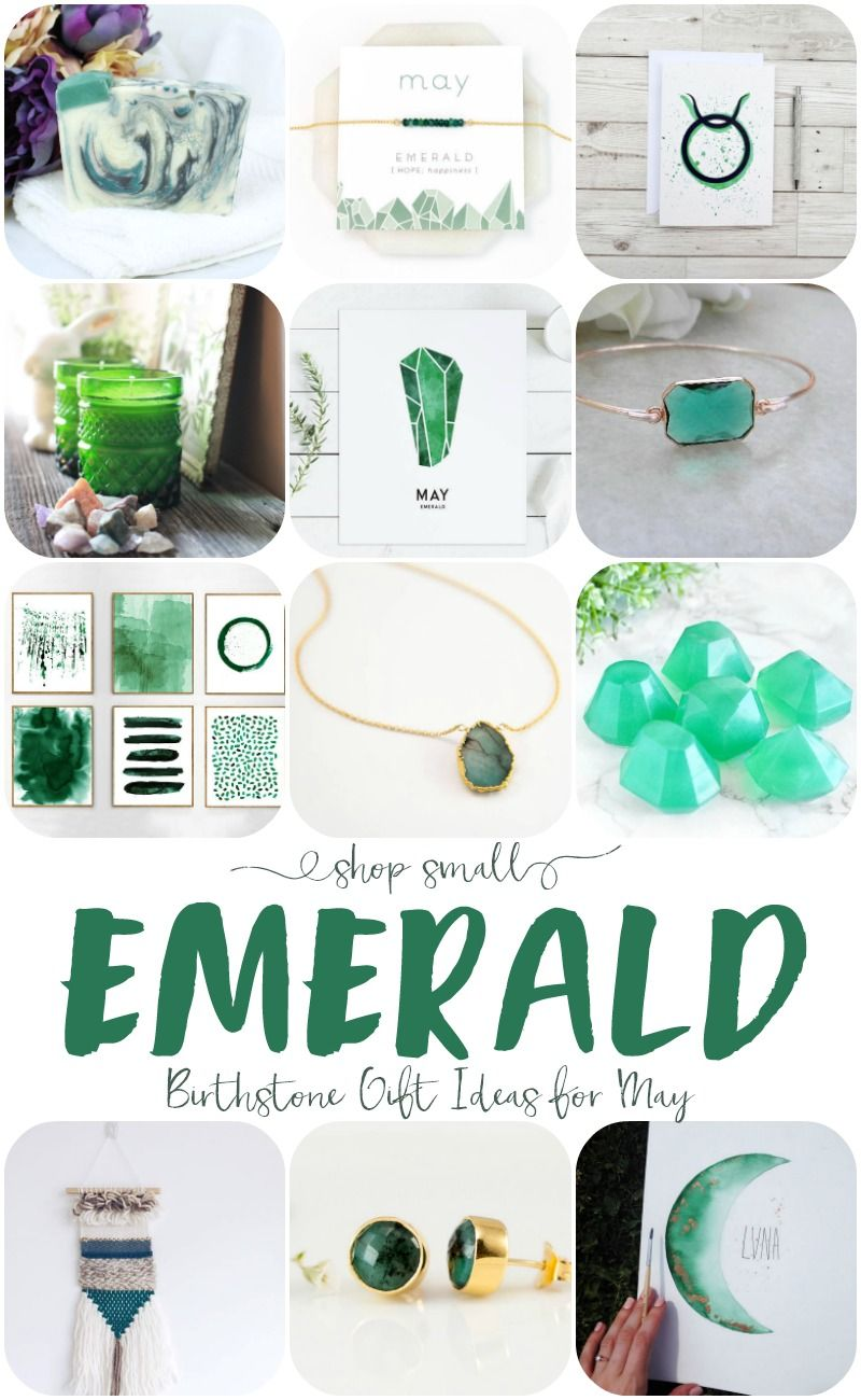 May S Birthstone Is Emerald So Lets Get To Shopping Small With These Emerald Gift Ideas Gifts Gold Necklace Simple Upcycle Glass