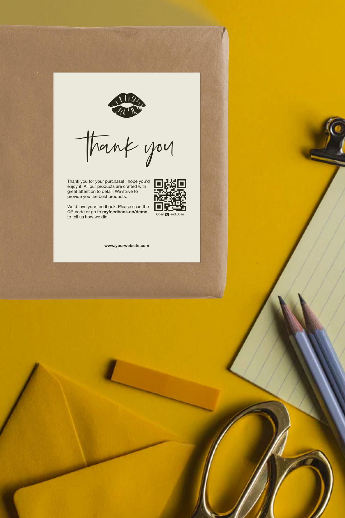 CUSTOM Business Thank You Cards || Printable | Customer Thank You ...