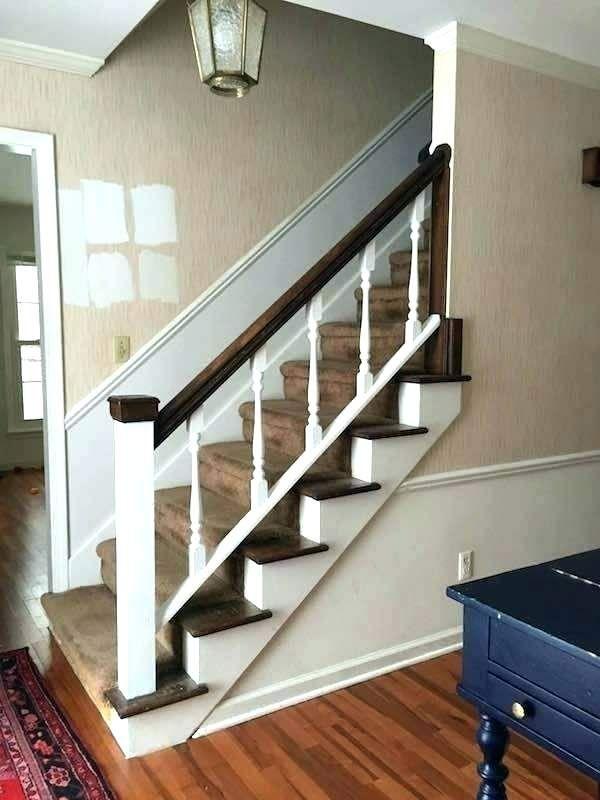 Wall Mounted Stair Rail White Stair Handrail Stair Rail ...