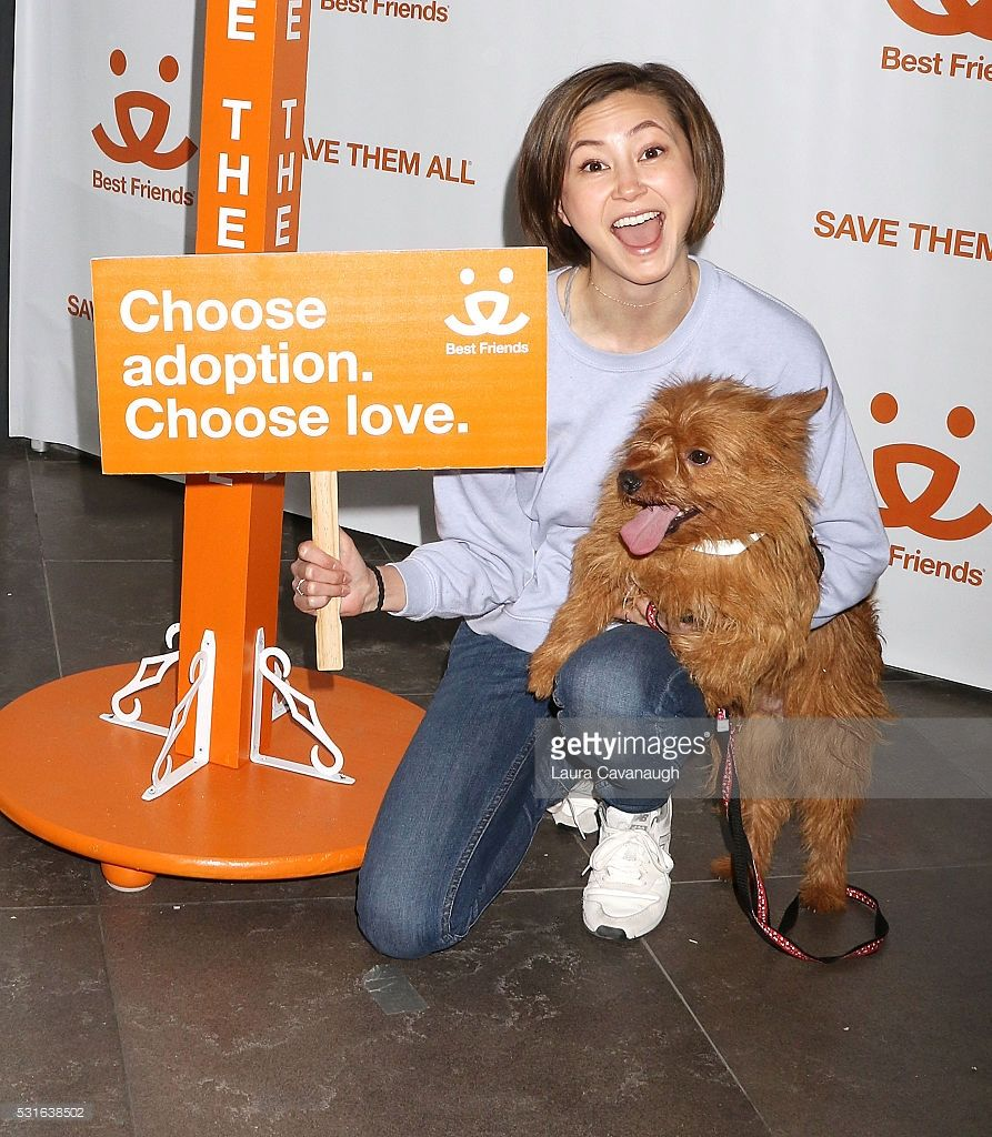 Kimiko Glenn and dog Tater Bug visits Best Friends Animal