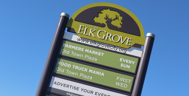 Time To Swap Out Announcements On Elk Grove Message Billboard Scrutinize City Spending Sign Company Elk Messages