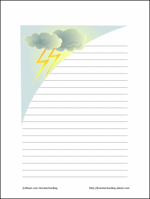 10 Worksheets to Teach Your Child Basic Weather Terms: Weather Theme Paper