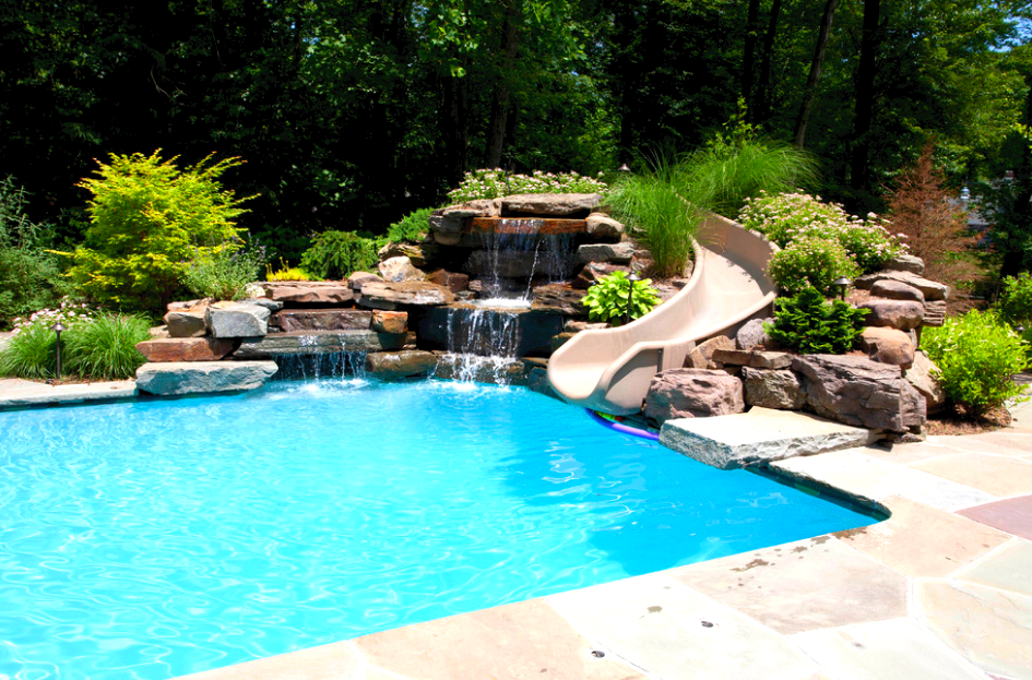 Custom Pool Slides Summit Usa Commercial Luxury Custom Pool Slides Summit Usa Pool Waterfall Swimming Pools Backyard Beach Entry Pool