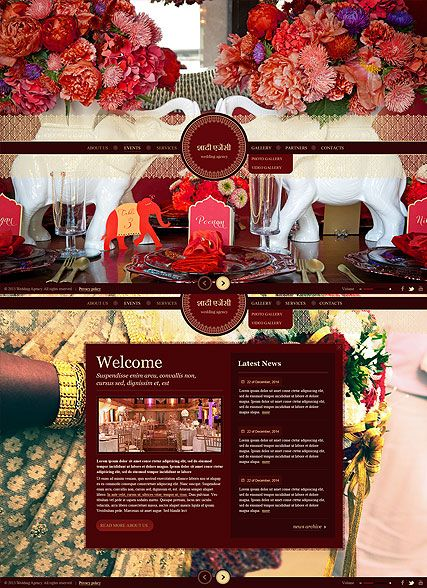 Indian Wedding website template | Website Templates | Pinterest