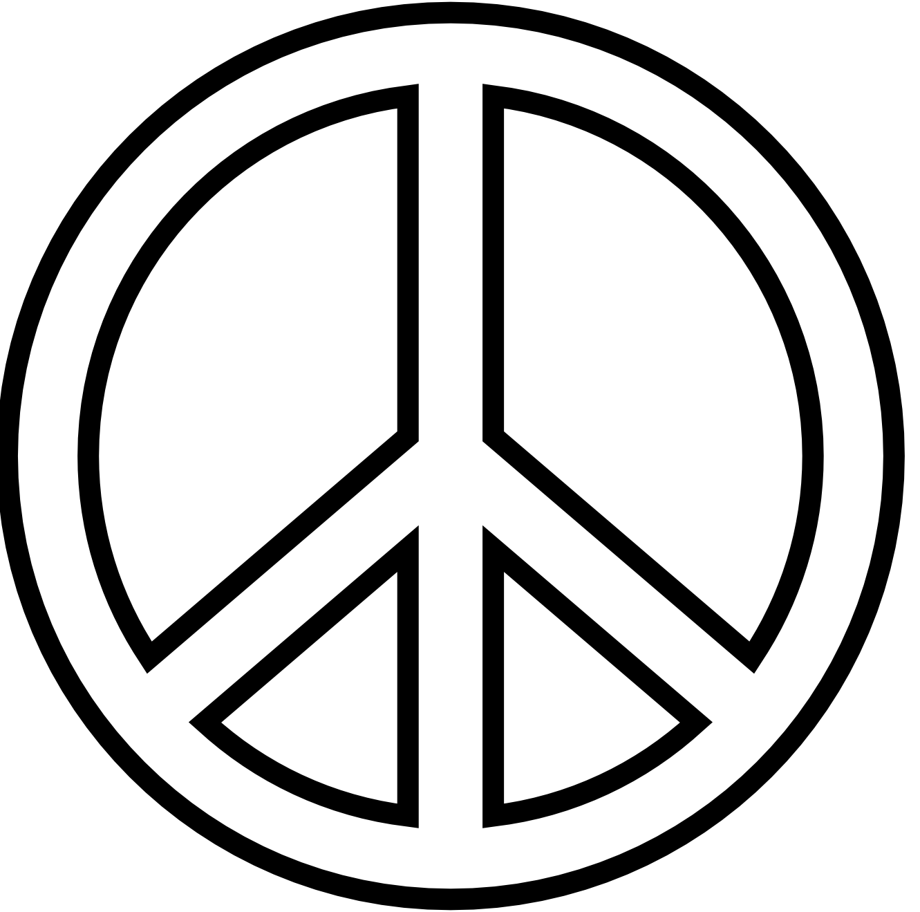 Peace symbol coloring pages feel the peace pinterest peace peace biocorpaavc Image collections