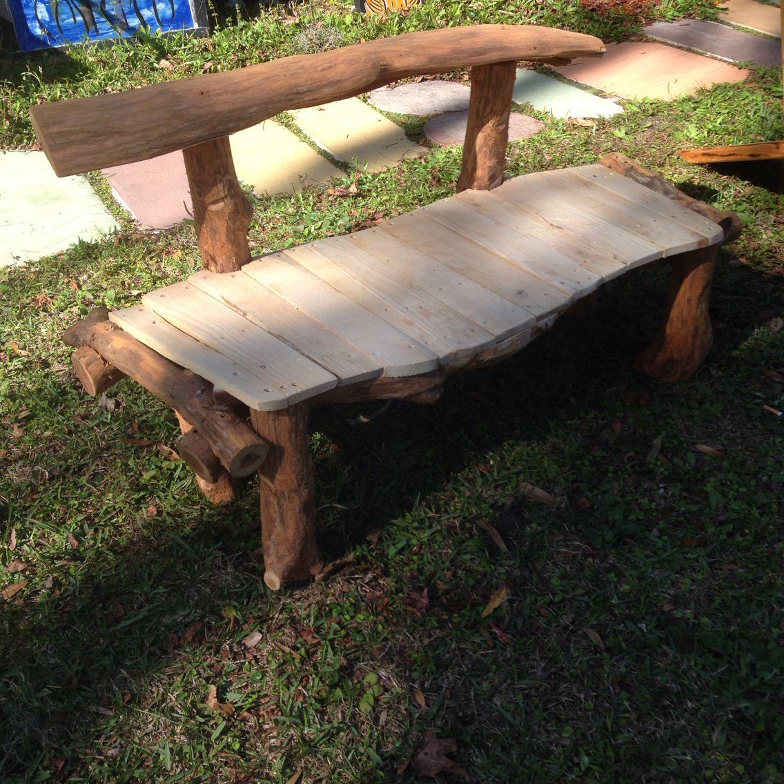 Remarkable Back To Bedrock Flintstones Rustic Low Level Garden Bench Uwap Interior Chair Design Uwaporg