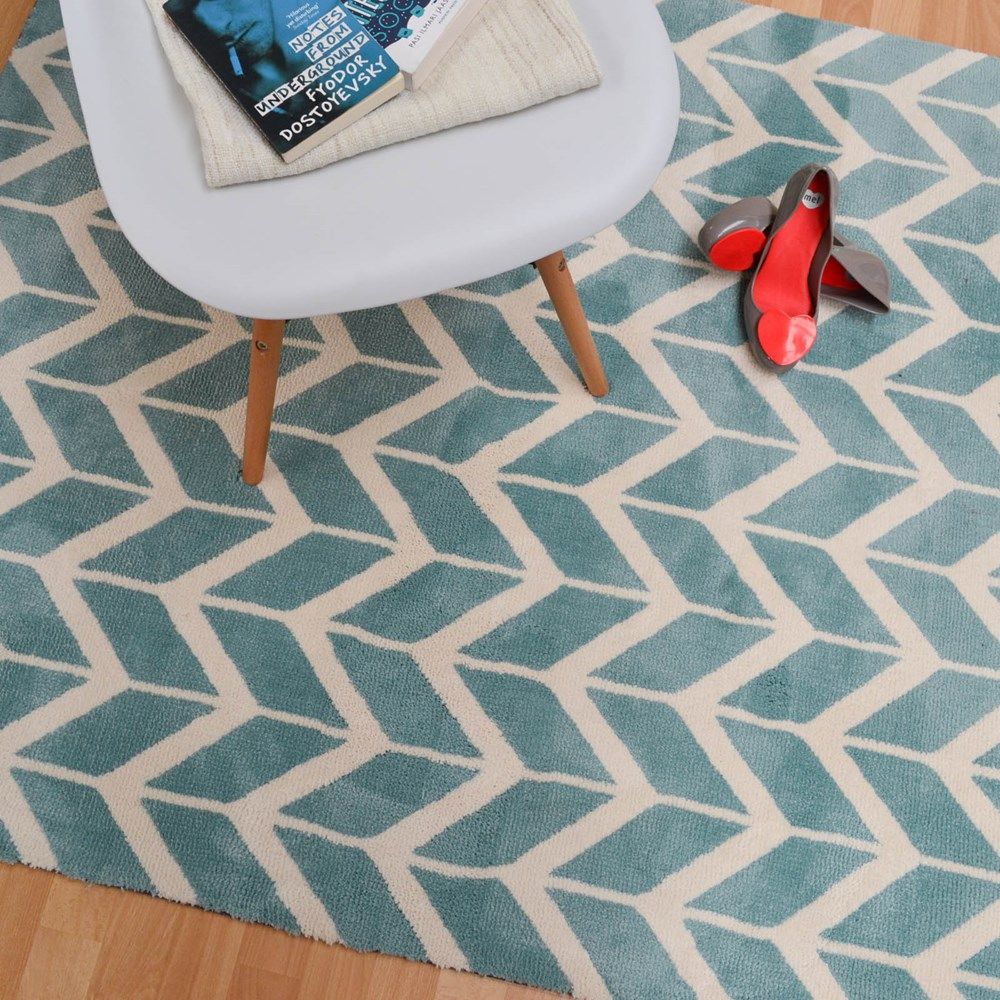 Arlo Chevron Rugs Ar05 In Blue Online From The Rug Er Uk