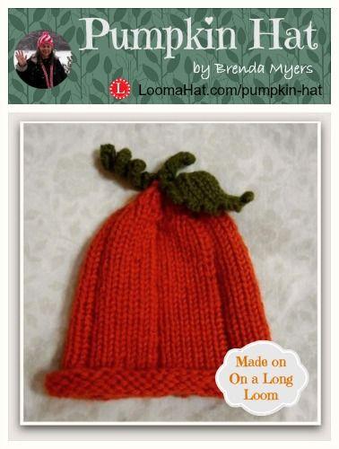 Pumpkin Hat On A Long Loom By Brenda Myers Free Pattern Loom Knit