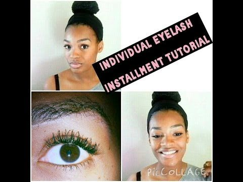 HOW TO APPLY INDIVIDUAL EYELASHES - Natural Looking Eyelash Extentions - YouTube