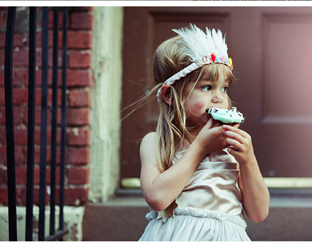 This Wovenplay Feather Headband inspired my girls & I to create our own version using seashells & feathers & jewels we had found on beach...OH MY! Inspiring a myriad of magical memories from our trip (the girls named them Hamptons Headbands & we stitched date and location to remember)