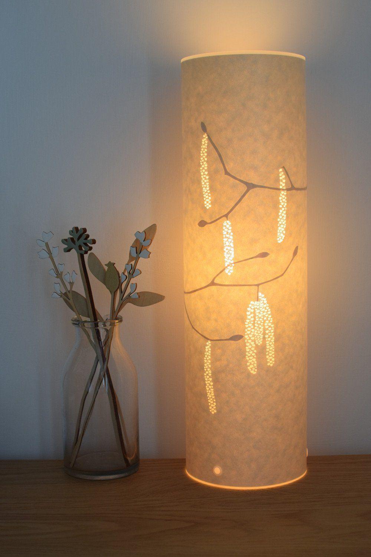 nature inspired lighting. Papercut Nature Inspired Hazel Catkins Table Lamp By Hannah Nunn Lighting