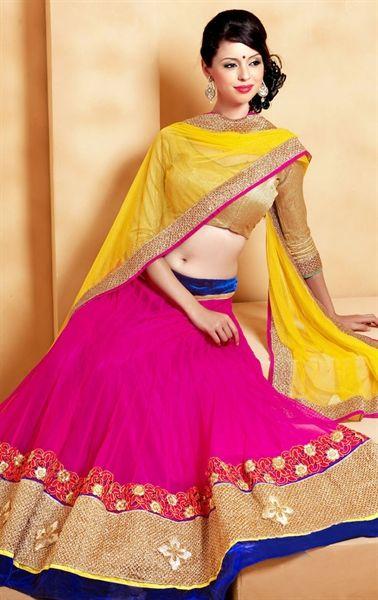 Picture of Exquisite Pink Wedding Lehenga Choli