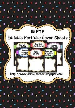 editable cover page