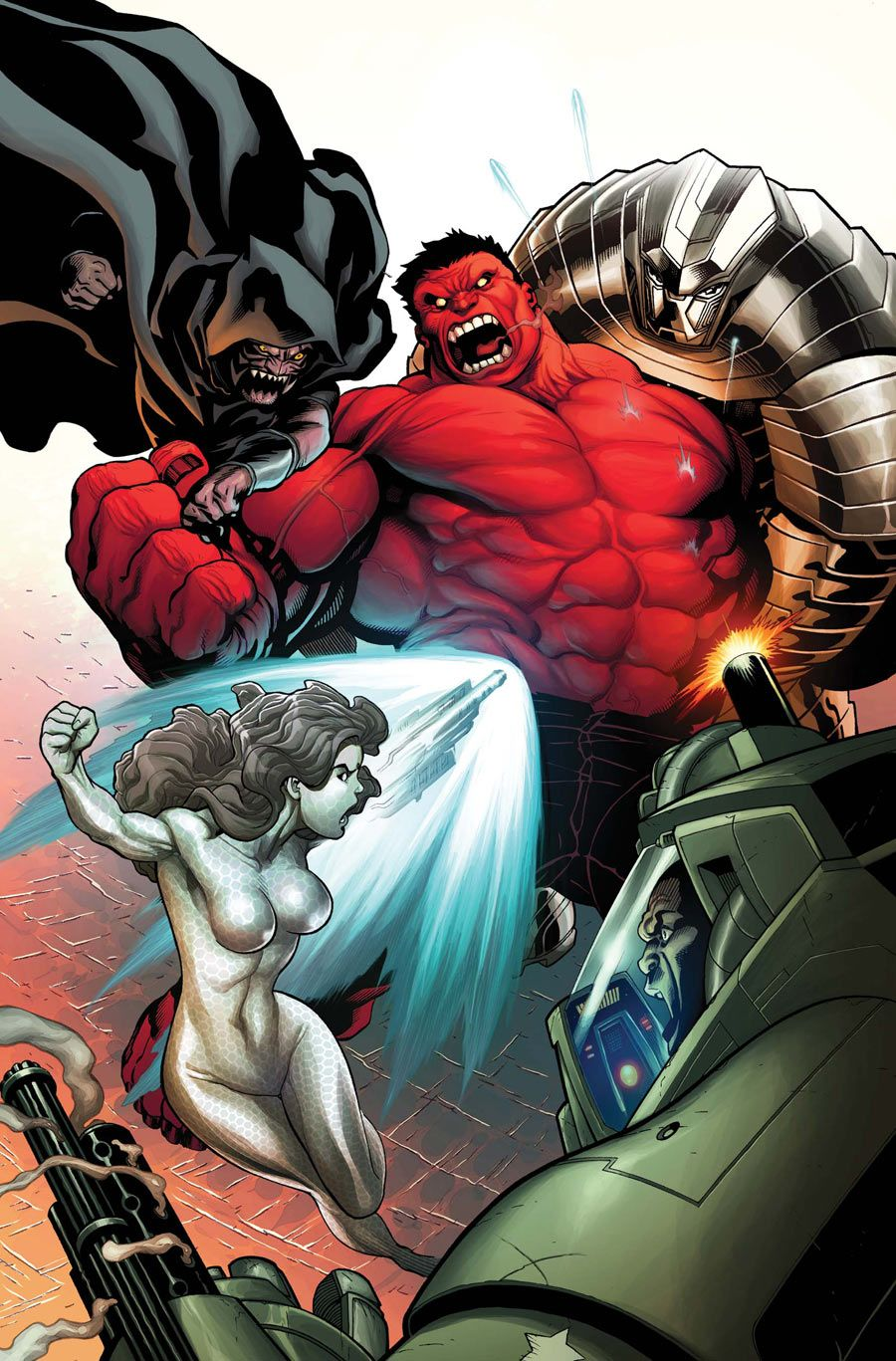 Red hulk by gabriel hardman movie posters pinterest - Pictures of red hulk ...