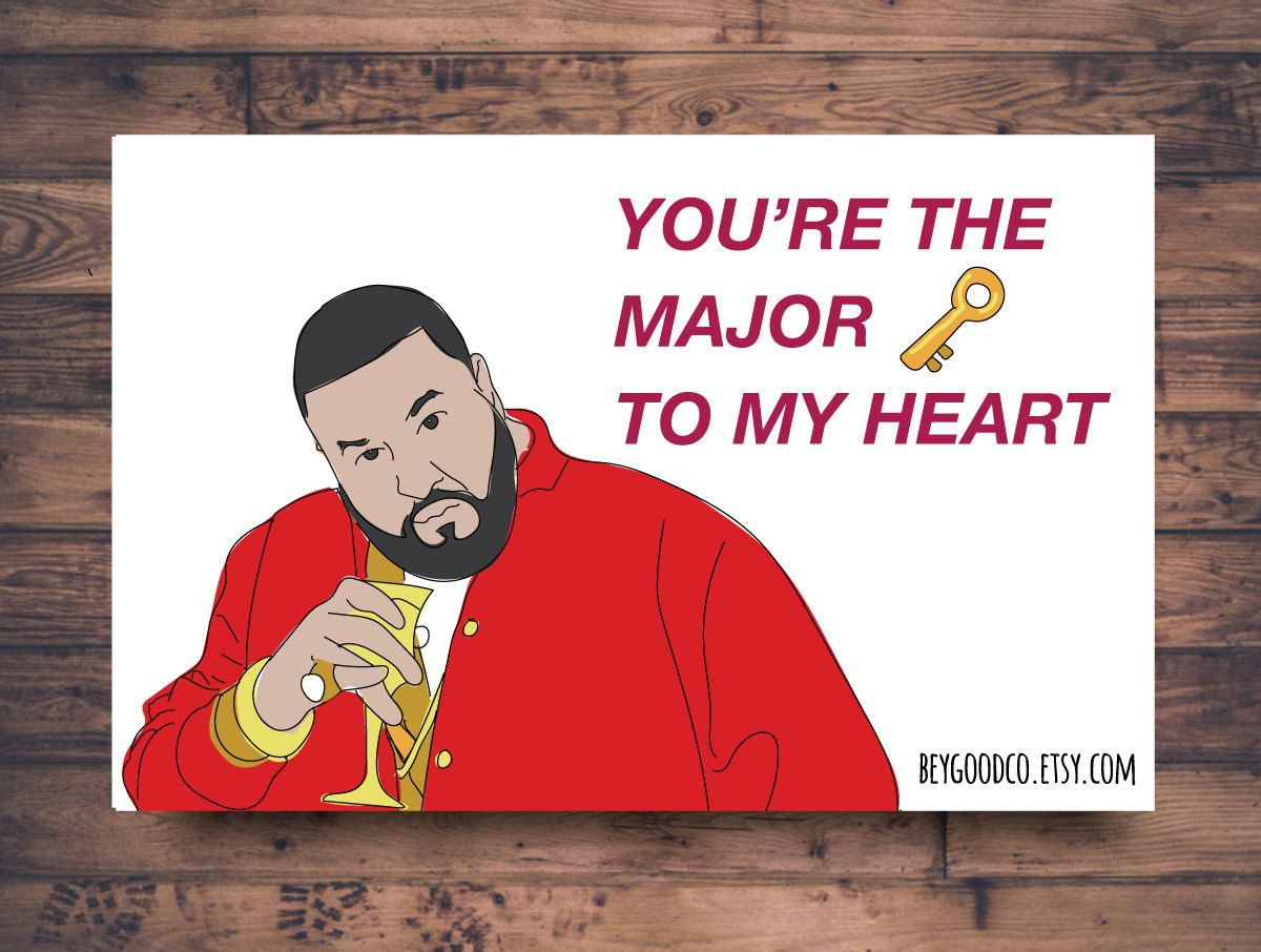 new to beygoodco on etsy printable valentines card funny dj khaled valentines card - Etsy Valentines Cards