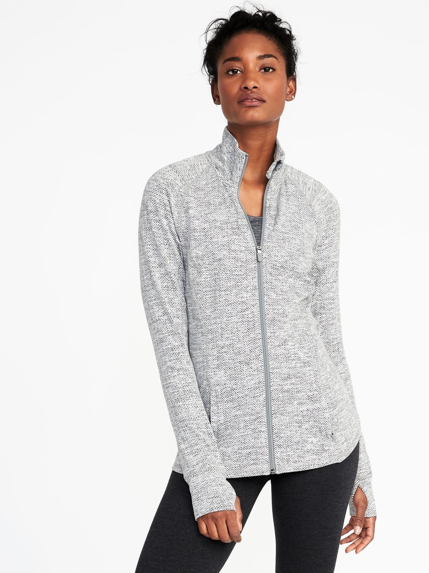 Fitted fullzip performance jacket for women in my style