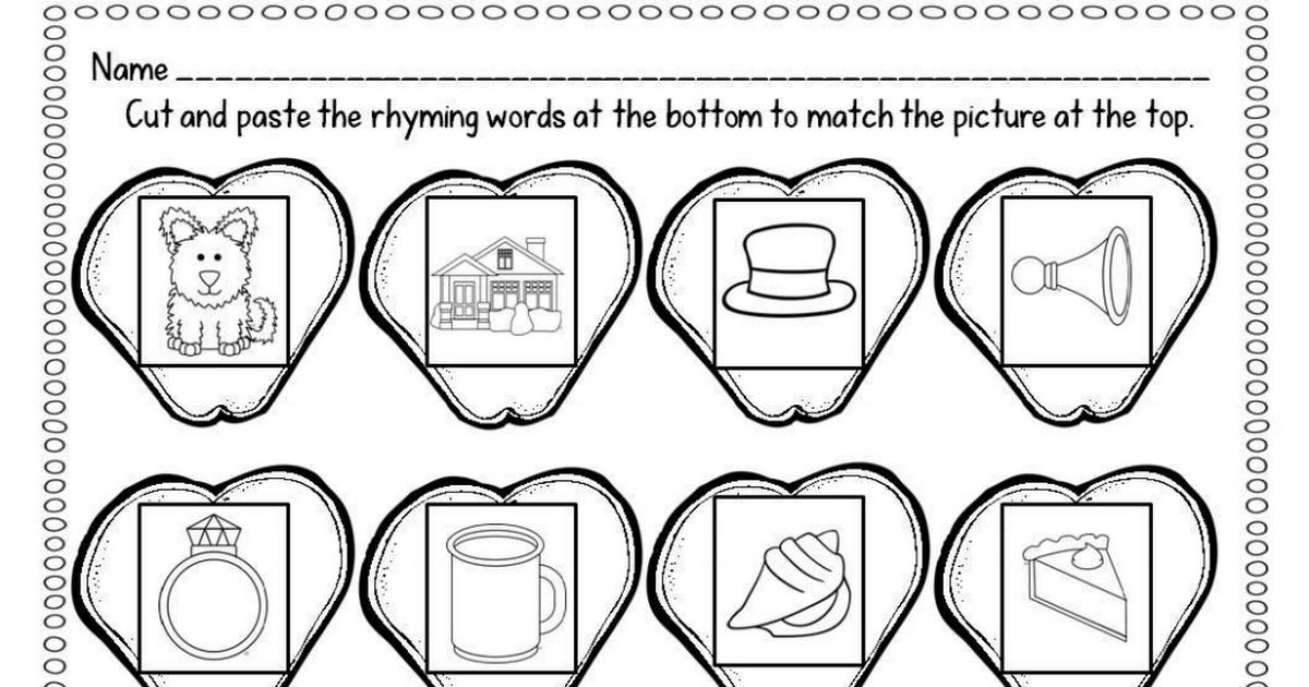 Rhyming Words.pdf | Rhyming Activities | Pinterest