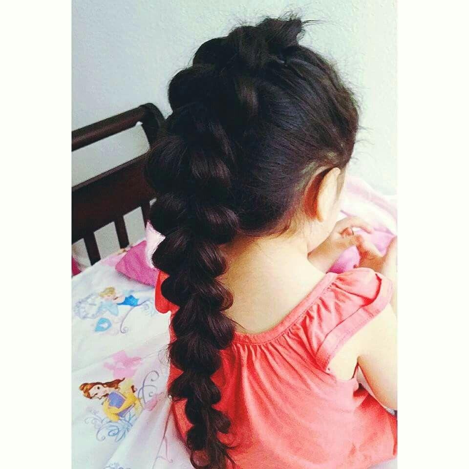 Pull through mohawk braid little girl hairstyles pinterest