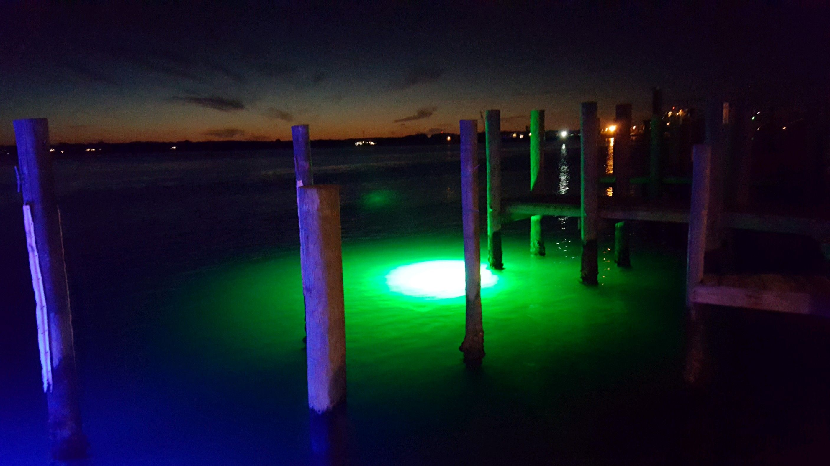 Underwater Dock Lights By Illumisea Lighting Up The Water At