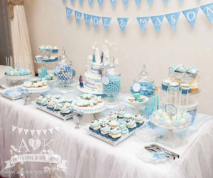 Image Result For Blue Dessert Table