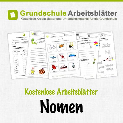 kostenlose arbeitsbl tter und unterrichtsmaterial f r den deutsch unterricht zum thema nomen in. Black Bedroom Furniture Sets. Home Design Ideas