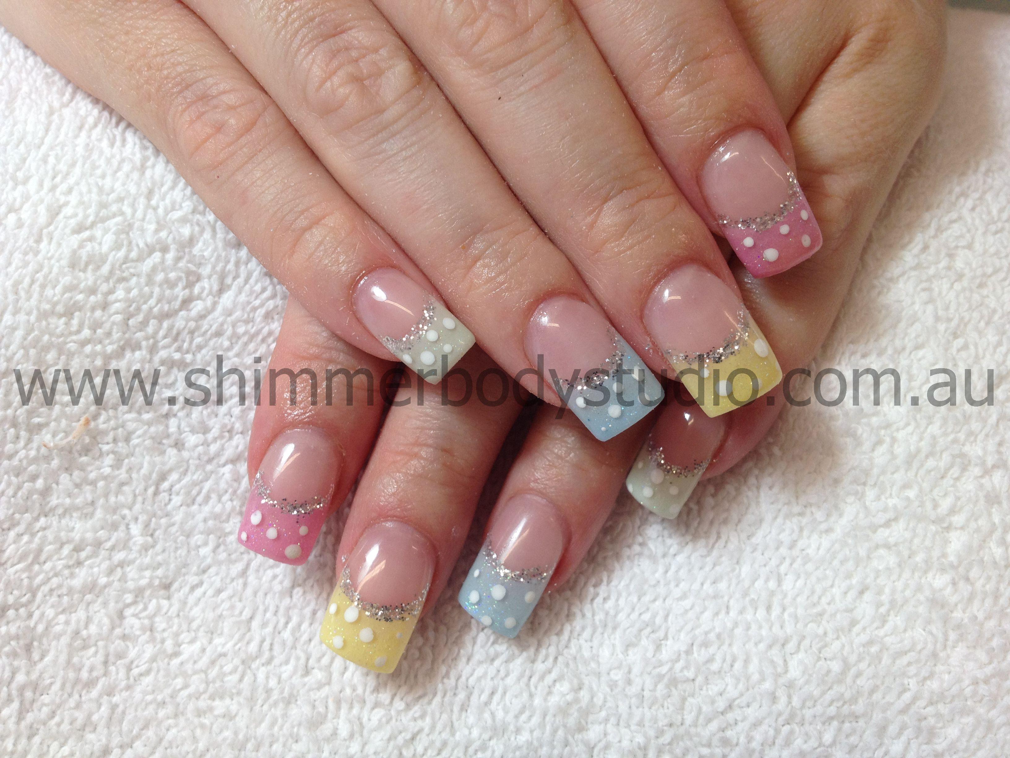 Gel nails colour nails polkadot nails easter nails glitter gel nails colour nails polkadot nails easter nails glitter nail art prinsesfo Choice Image