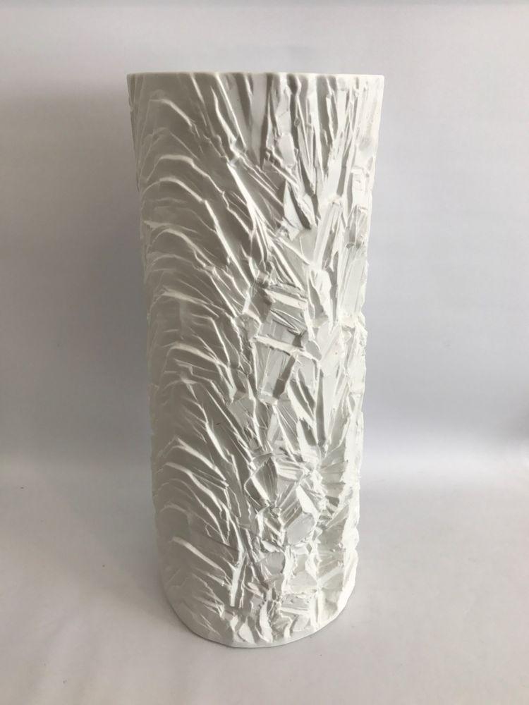 Xxl 52cm Op Art Floor Vase Schumann Arzberg Bodenvase Mattes Relief