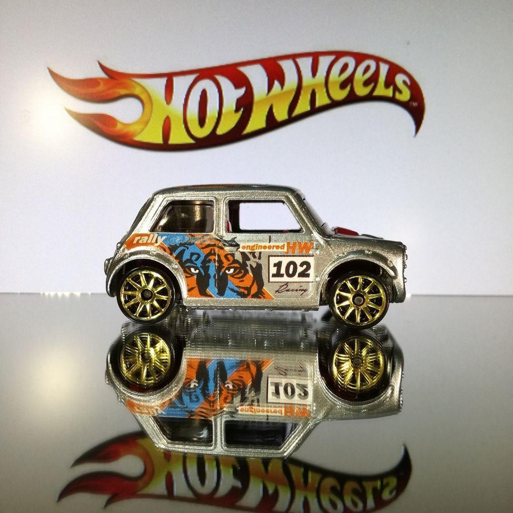 Custom Hot Wheels Morris Mini Cooper Silver Wtiger From Tiki