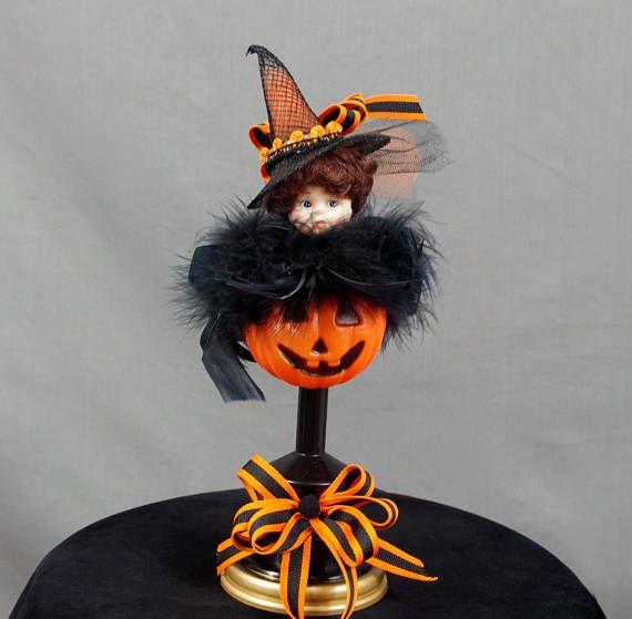 Halloween Decoration, Vintage Doll Decor, Jack O Lantern Decor - halloween decor images