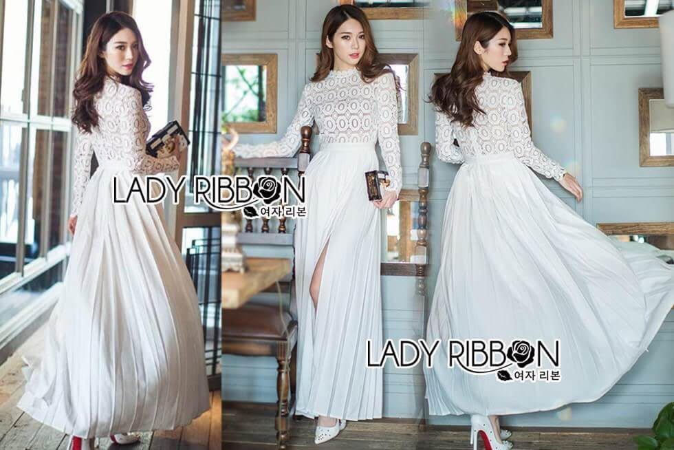 a5bf637050 🎀 Lady Ribbon s Made 🎀 Self-Portrait Pleated Crochet Floral Maxi ...