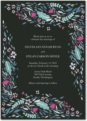 Wedding Stationery Wednesday Dark Romance Invitations