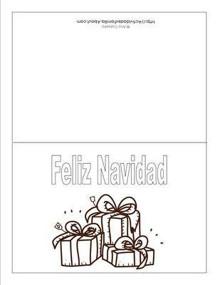 Descargra Gratis: Tarjetas de Navidad para colorear | Cosas para ...