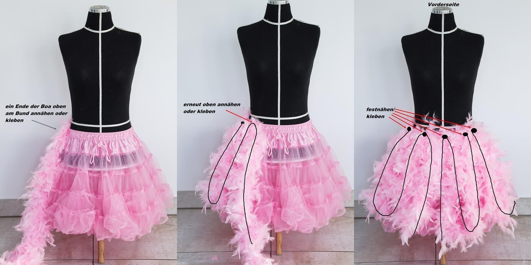 Last Minute Karnevalskostüm Flamingo - lady-stil.de #gruppenkostüme