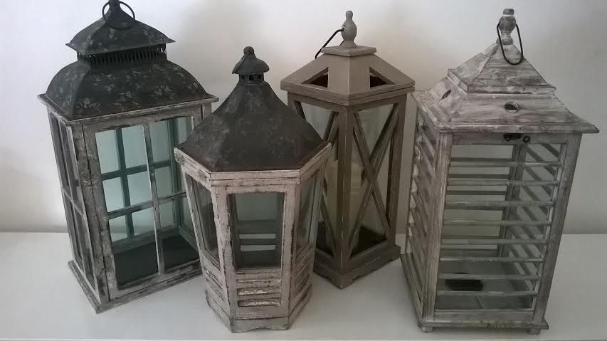 assorted lanterns for staircase base