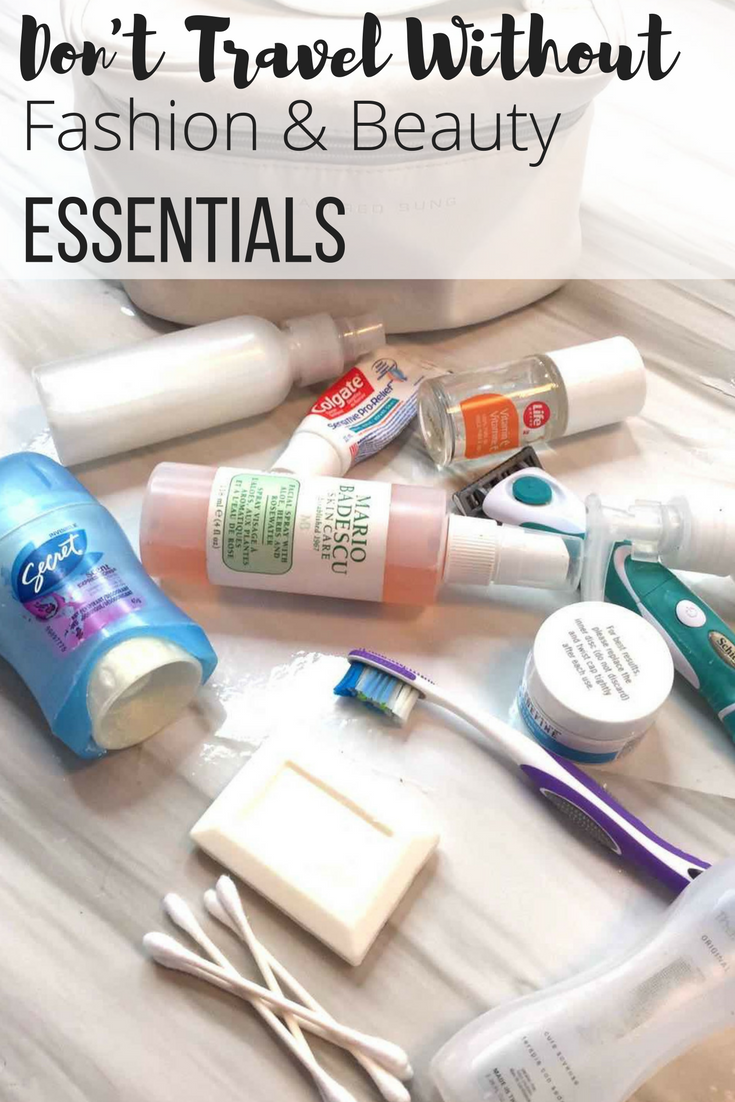 Toiletries for your trip. Trip advice, trip tips, travel tips, travel advice, packing list