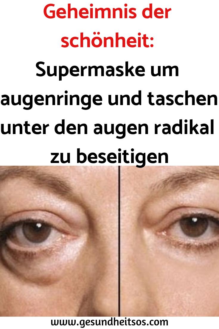 Geheimnis der Schönheit: Supermaske um dunkle Ringe und Taschen unter Augenaugen