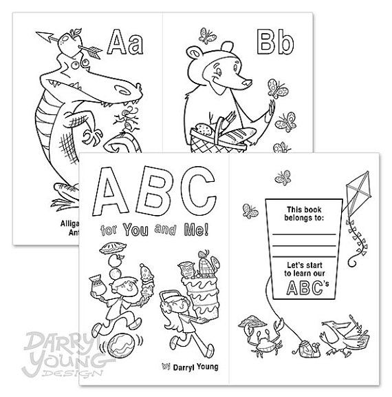 Alphabet Coloring Book Digital