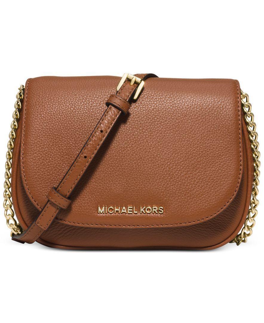 Michael Kors Bedford Small Crossbody Saddle Bag Designer Handbags Accessories Macy S