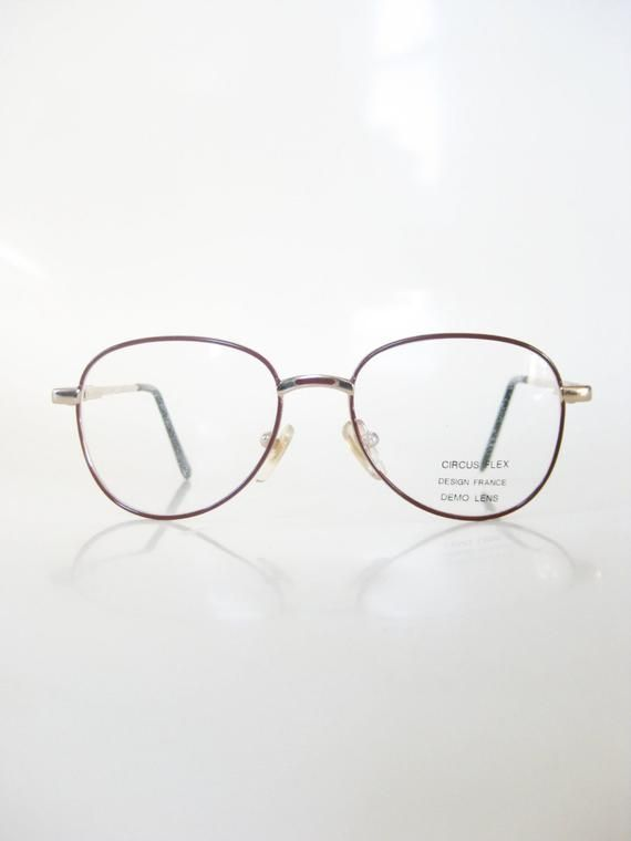 26732278c39d 1970s Childrens Eyeglasses - Authentic Vintage Glasses - Gold and Burgundy  Wire Rim Optical Frames -