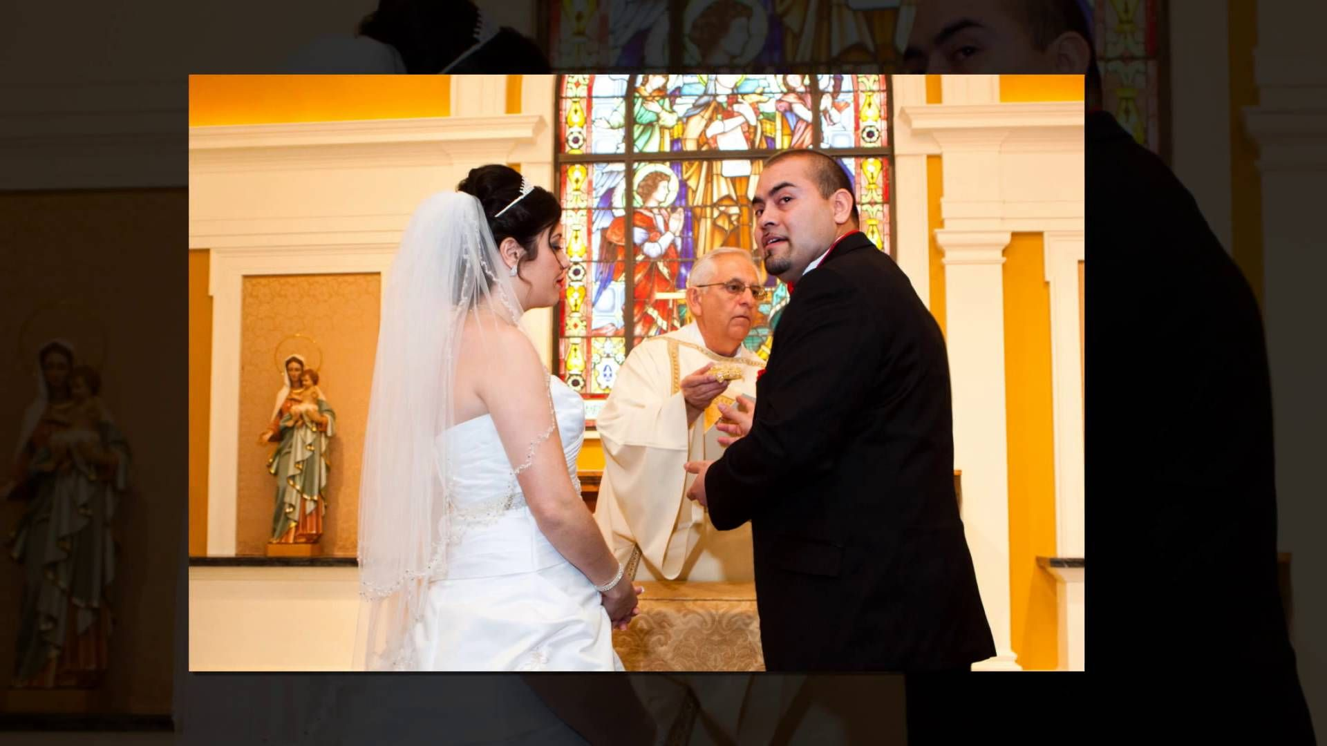Cassia & Ruben's Wedding St. Theresa Catholic Church houston wedding pho...
