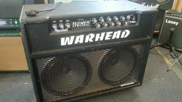 for sale is a used randall warhead wh150 guitar amplifier made in korea shows and other. Black Bedroom Furniture Sets. Home Design Ideas