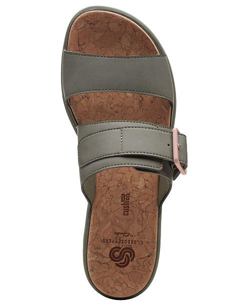 Clarks Womens Cloudsteppers Step June Tide Slide Sandals -1044