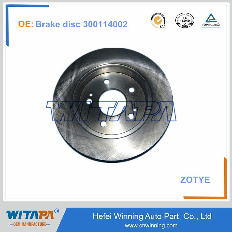 Oem High Quality Zotye Spare Parts Brake Disc 300114002 From Manufacture Spare Parts Oem Manufacturing