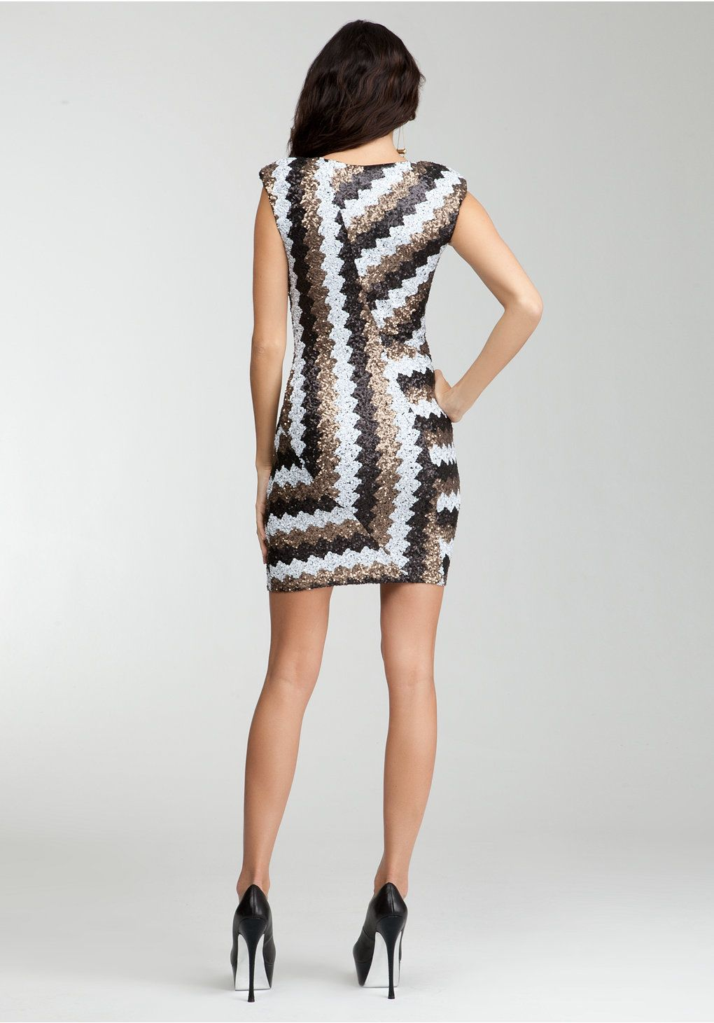 Bebe chevron sequin dress view all dresses pinterest